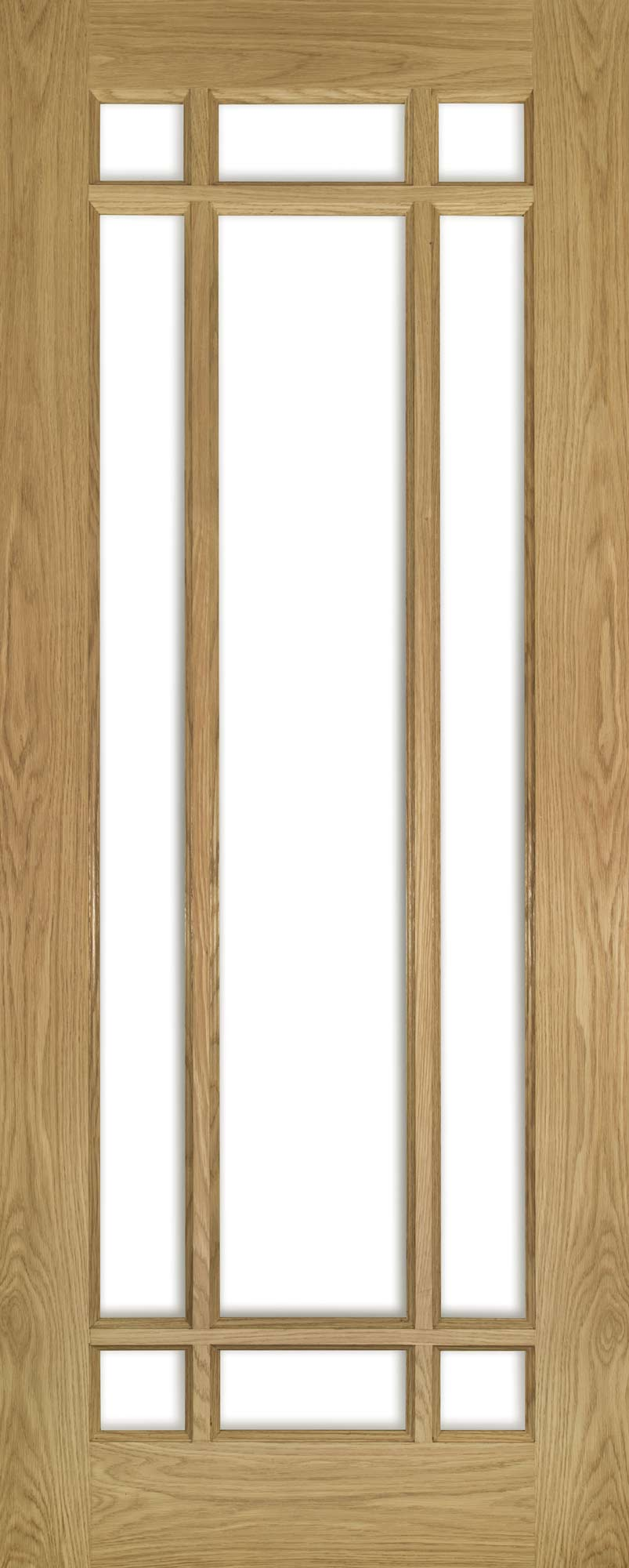 Deanta Unfinished Oak Kerry Glazed Door