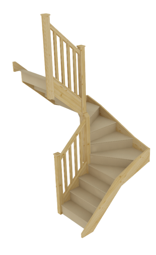 Stairbox winder flight mid six winder for Building winder stairs
