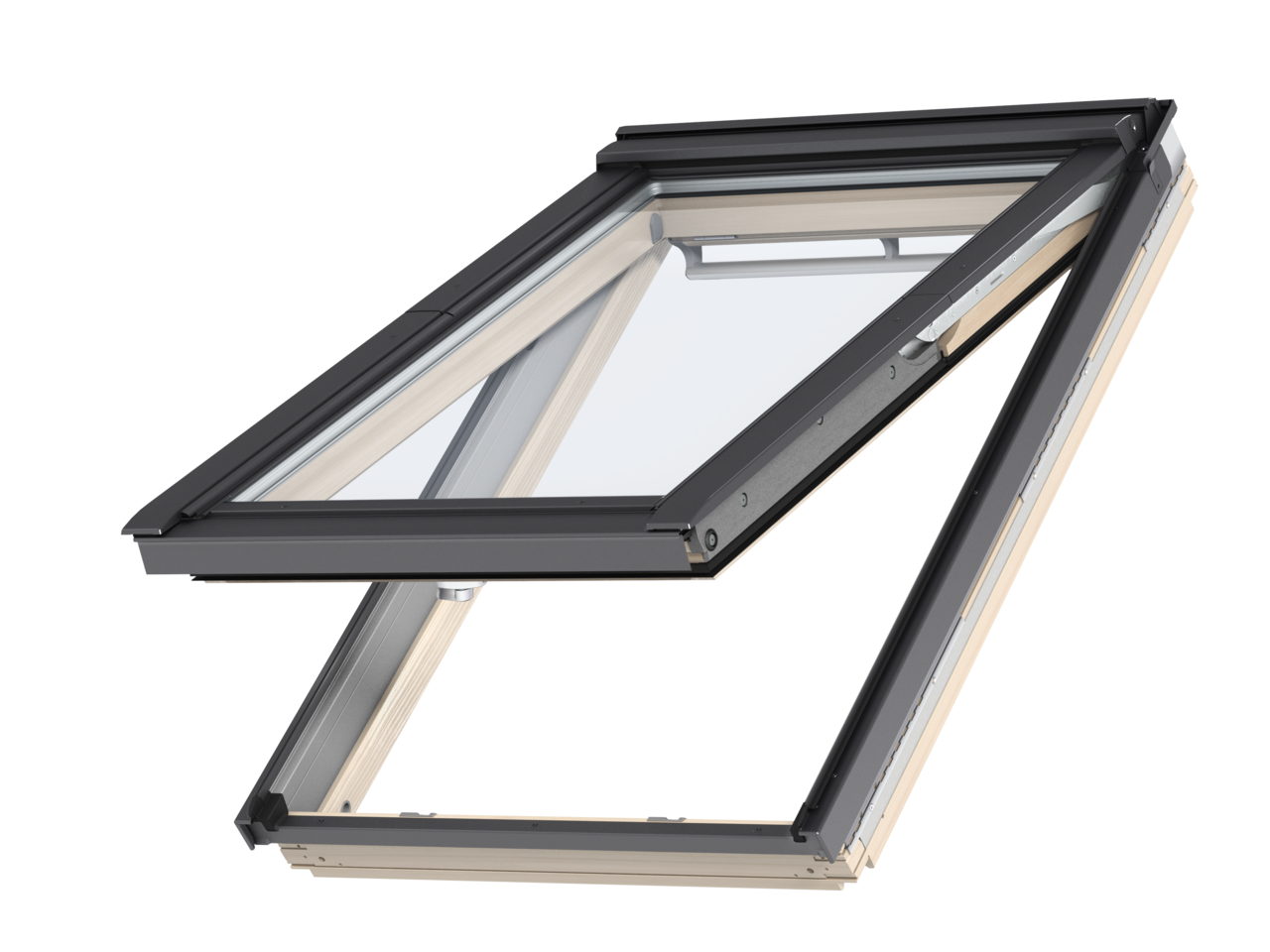 Velux pine top hung roof window gpl3070 for Velux glass