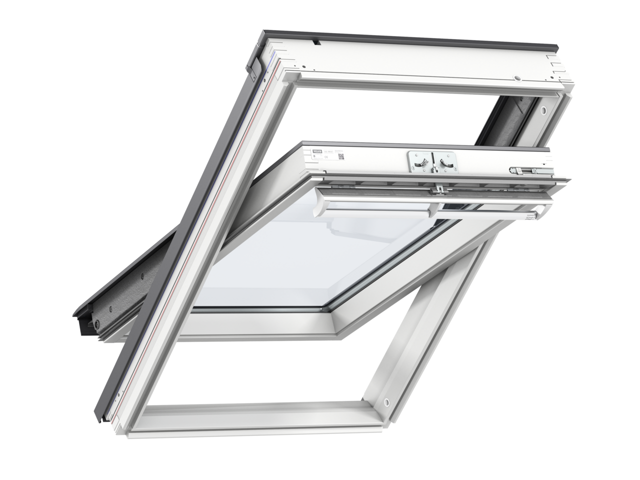 Velux white painted centre pivot roof window ggl - Velux ggl 4 ...