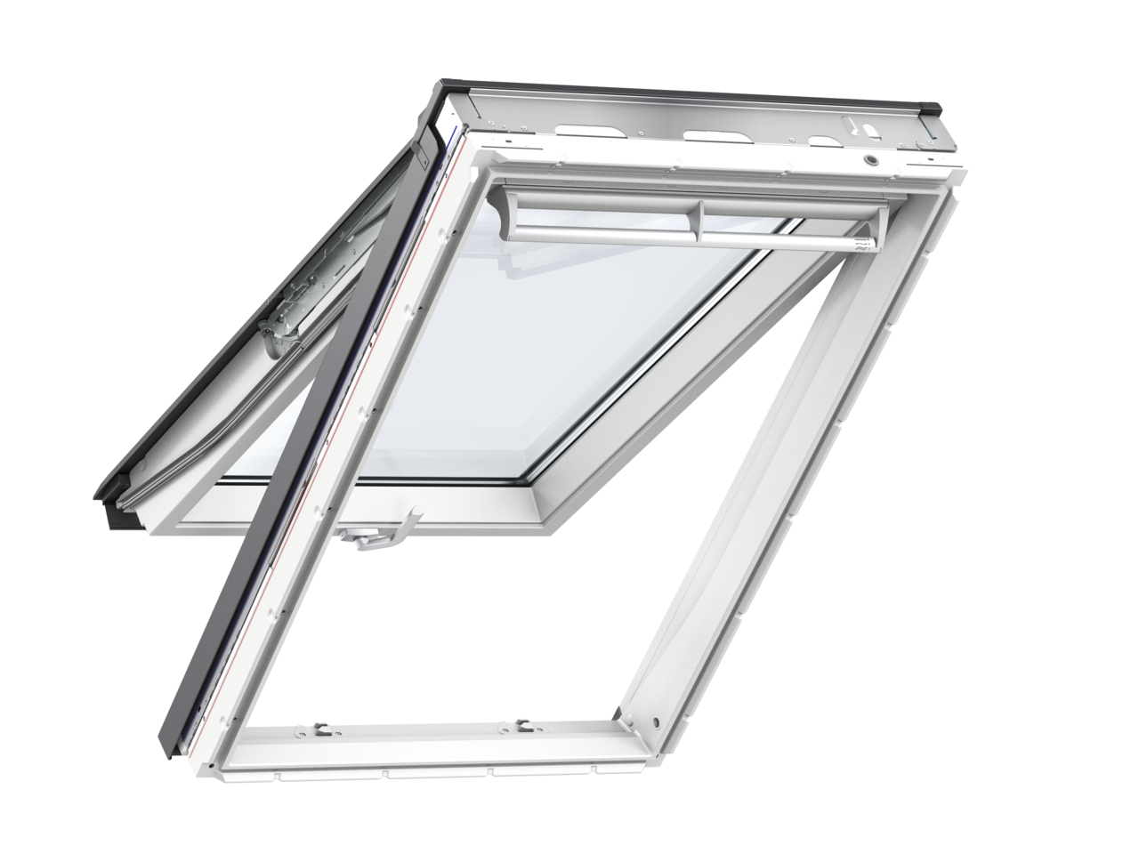 Velux white polyurethane top hung roof window gpu for Velux glass