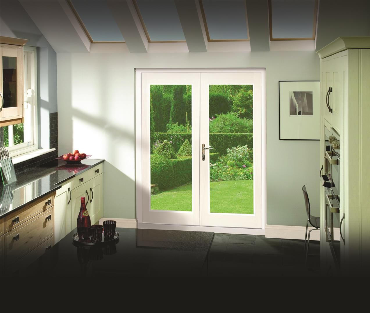 Xl joinery ext pre finished white 4 la porte french door for French doors 1190