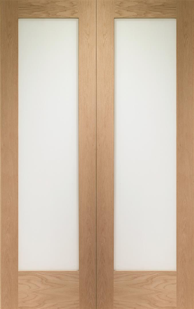 Xl Joinery Internal Oak Pattern 10 Door Pair With Clear Glass