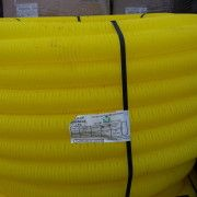 uPVC Perforated Yellow Gas Duct - C/W Coupler