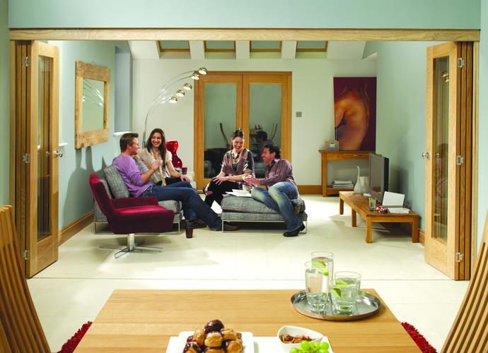 XL Joinery Internal Oak Freefold (2 Door System - Excludes Doors) 1278 x 2090mm & XL Joinery Internal Oak Freefold 2 Door System - Excludes Doors 1278 ...